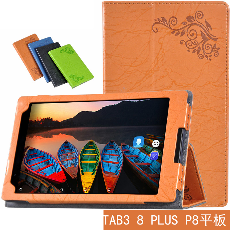 Ultra Slim Flip Stand Protective Print Flower PU Leather Cover Case For Lenovo P8(Tab 3 8 Plus) TB-8703 TB-8703F TB-8703N Tablet silicon cover case for lenovo tab 3 8 plus 8703x tb 8703f tb 8703n 8 0tablet pc tab3 tb 8703 protective case free 3 gifts
