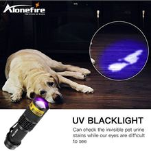 ALONEFIRE SK68uv 395nm Zoomable Led UV Flashlight Torch Light Ultra Violet Light Blacklight UV Lamp AA Battery For Marker Checke