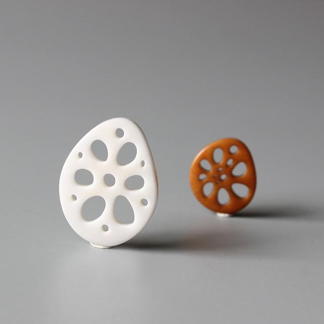 Оптовая продажа, кулоны с кулоном в виде кулона из корня лотоса для ожерелья, оригинальный дизайн, дзен-буддизм, удачный Шарм для DIY ювелирных изделий
