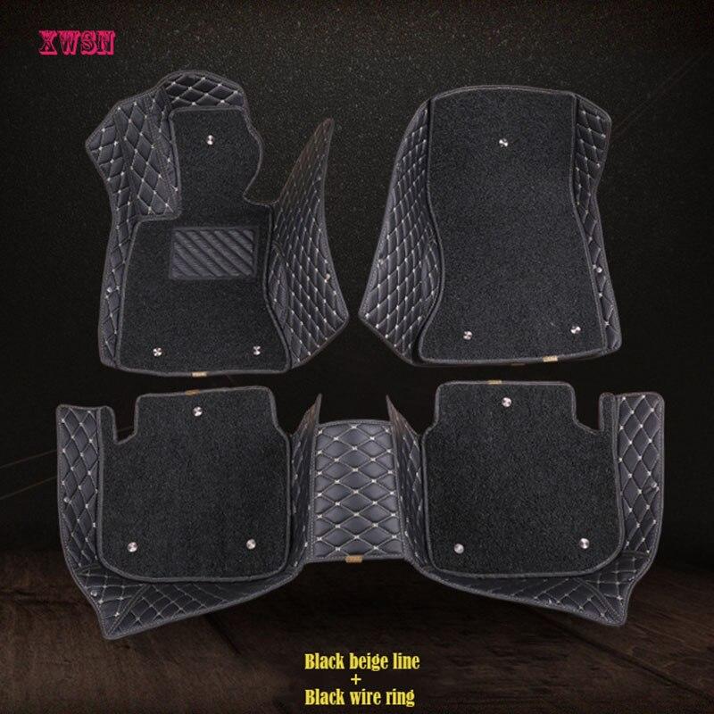 XWSN Custom car floor mats for MINI Cooper R50 R52 R53 R56 R57 R58 F55 F56
