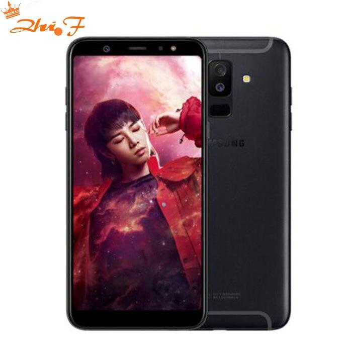 Nouveau Samsung Galaxy A9 Sta r lite A6058 Mobile Téléphone 6.0 4 gb RAM 64 gb ROM Android 8.0 double Arrière Caméra D'empreintes Digitales Téléphone d'origine