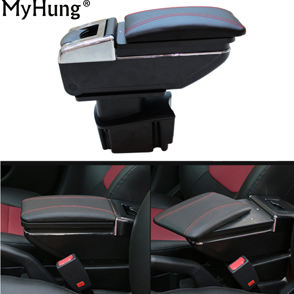 Car Armrest Center Console Storage Box For KIA Rio K2 2011 2012 2013 2014 2015 Auto Accessories Car-Styling Auto Accessories 7 generation car center console armrest storage box suitable for ford focus 2 focus 3 auto accessories