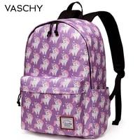 VASCHY Fashion Women Backpack Cute School Bags Travel Laptop Bookbag Unicorn Backpack for Teens Girls Women Youngers