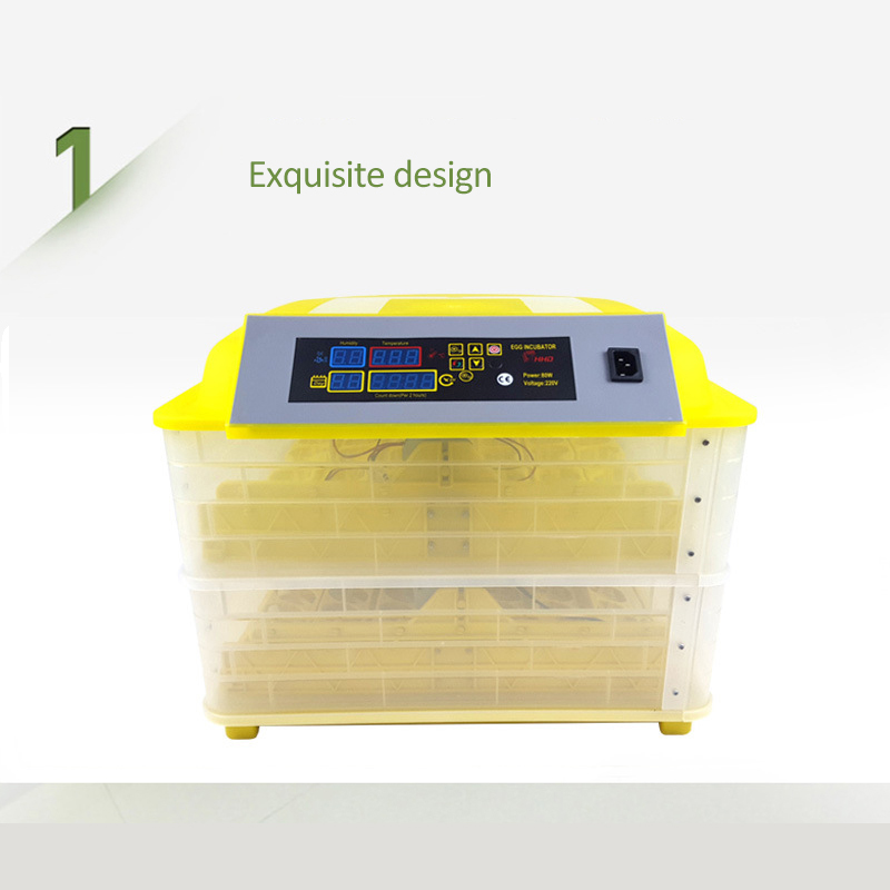 Automatic Egg Incubator China 96 Digital Clear Egg Turning Temperature Control Farm Hatchery Machine chicken egg Hatcher (11)