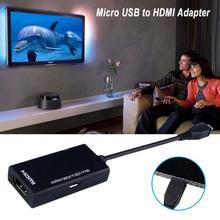 New High Quality Black Micro USB To HDMI Male To Female High Speed HDTV Adapter Converter Cable For Phone For Mobile Phone