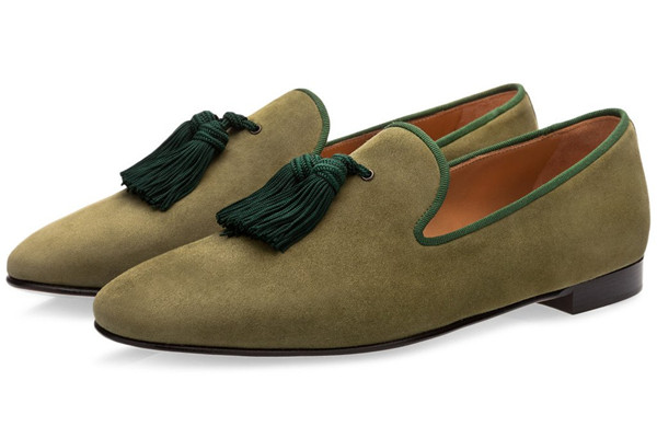 39859286ccd6b SHOOEGLE Luxury Suede Slippers Men Tassel Loafers Shoes Velour Smoking Slip-on  Men's Flats Party. sku: 32857477677