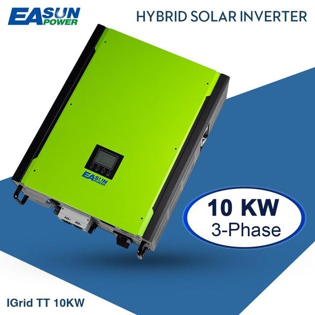 EASUN POTENZA 10KW Solare Inverter 48V 380V Legame di Griglia Inverter 3 Fasi Sulla Griglia Off Grid Inverter Con max 14850W di Energia solare REGOLATORE di CARICA MPPT