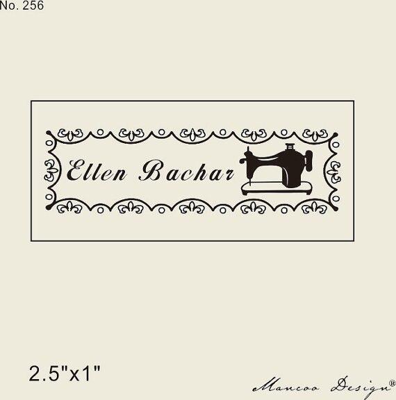 Logo personnalisé timbre 2.5 x 1 polegada nom personnalisé timbre tampon personnalisé à la main par timbre dans Timbres de Bureau et des Fournitures Scolaires