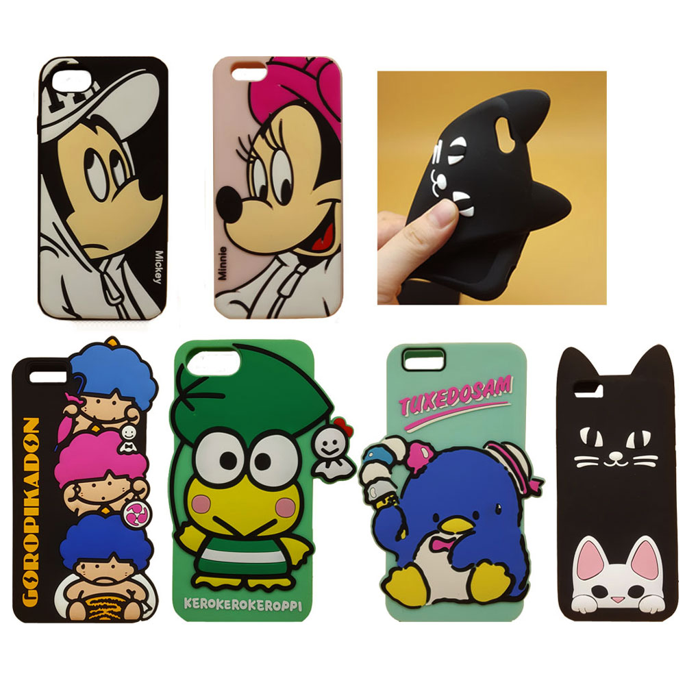 Online Shop Cute 3D Cartoon Phone Case For IPhone 8 7 7Plus Mickey Minnie Mouse Cat Frog Bird Boys Soft Silicone Cover 6 6S Plus