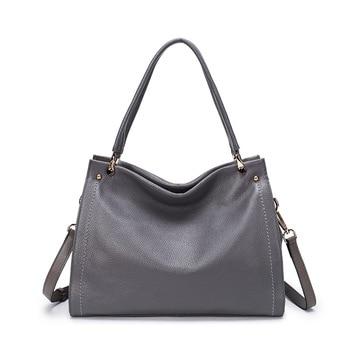 Fashion Women Handbags Genuine Leather Large Capacity Casual Tote Bags Multi-functional Lady Shoulder Crossbody Bag sac a main