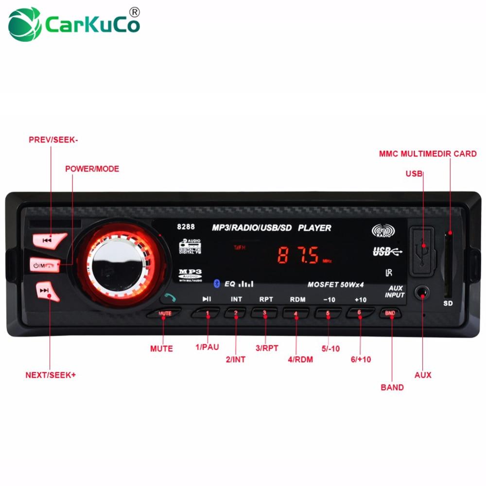 CARKUCO Voiture MP3 Lecteur FM Radio Bluetooth 1 DIN Voiture Audio De Voiture Stéréo Numérique Médias U Disque Sécurisé AUX-IN Auto MP3 Joueurs