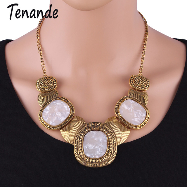 Tenande Joias Fine Jewelry Boho Gypsy Gold Color Geometry Carved