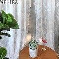 Белая Корейская сетчатая занавеска с цветами для гостиной  трикотажная кружевная фатиновая занавеска с вышивкой  кухонная занавеска ZH007 & 30
