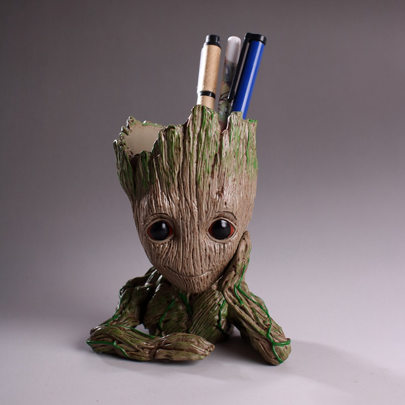 Fashion Guardians of The Galaxy Flowerpot Baby Action Figures Cute Model Toy Pen Pot Best Christmas Gifts For Kids Drop Shipping
