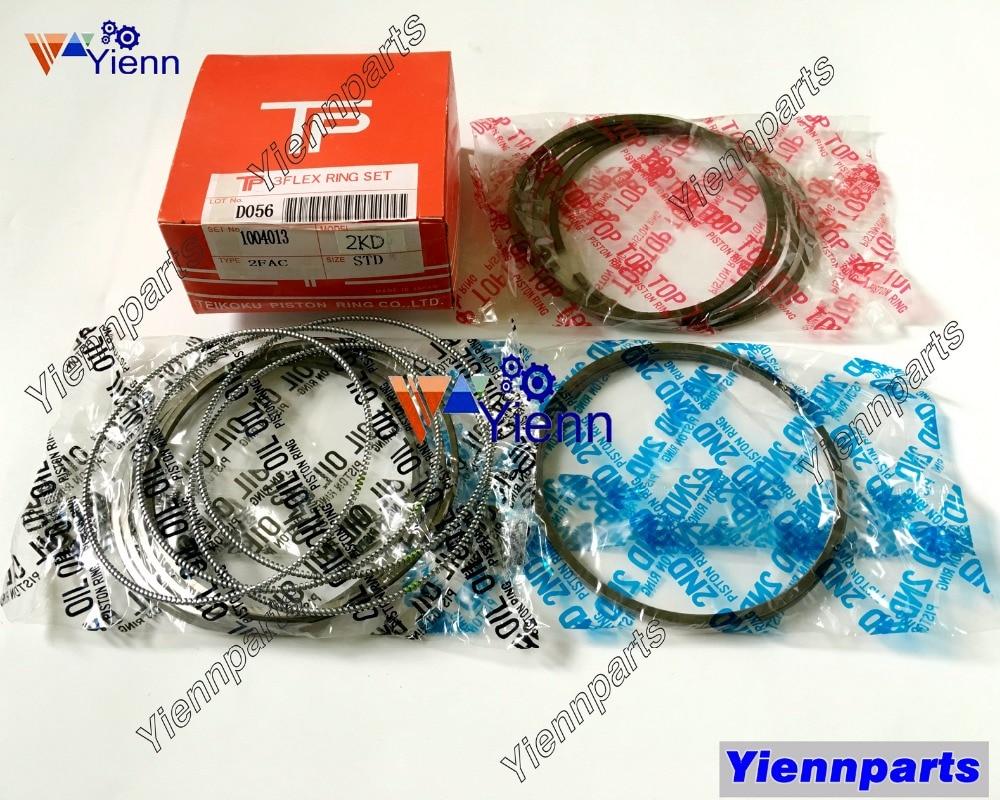 For TOYOTA 2KD 2KD FTV Piston Ring Set 13011 54030 Fit