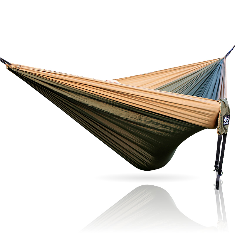 Hammock 300*200cm 210T Nylon Outdoor furniture 2 People Portable Parachute Hammock Camping Survival Garden Flyknit Hunting Hamac portable nylon parachute hammock camping survival garden hunting leisure travel double person