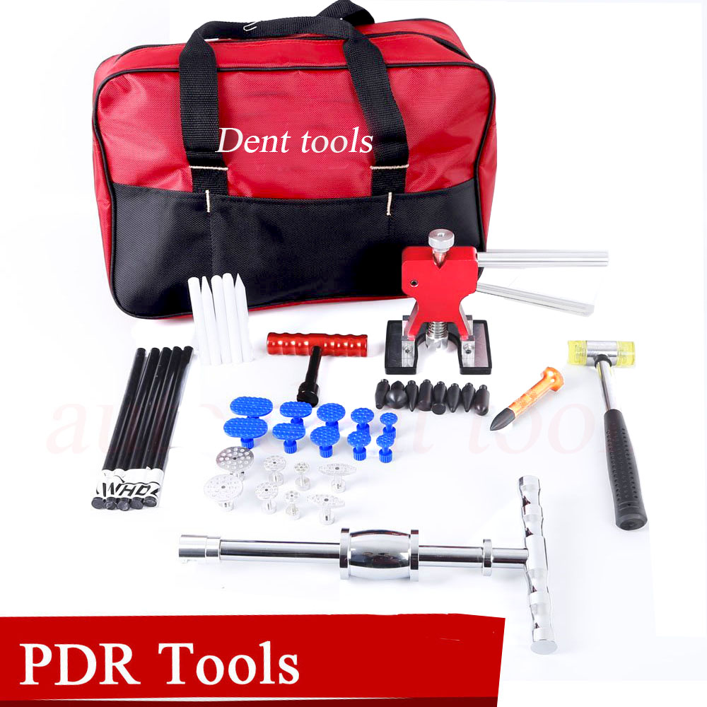 Hail Repair Kit handle Dent Lifter - PDR Slide Hammer with Tap Down - Glue Tab & Glue Stick - Paintless Dent Repair Tool