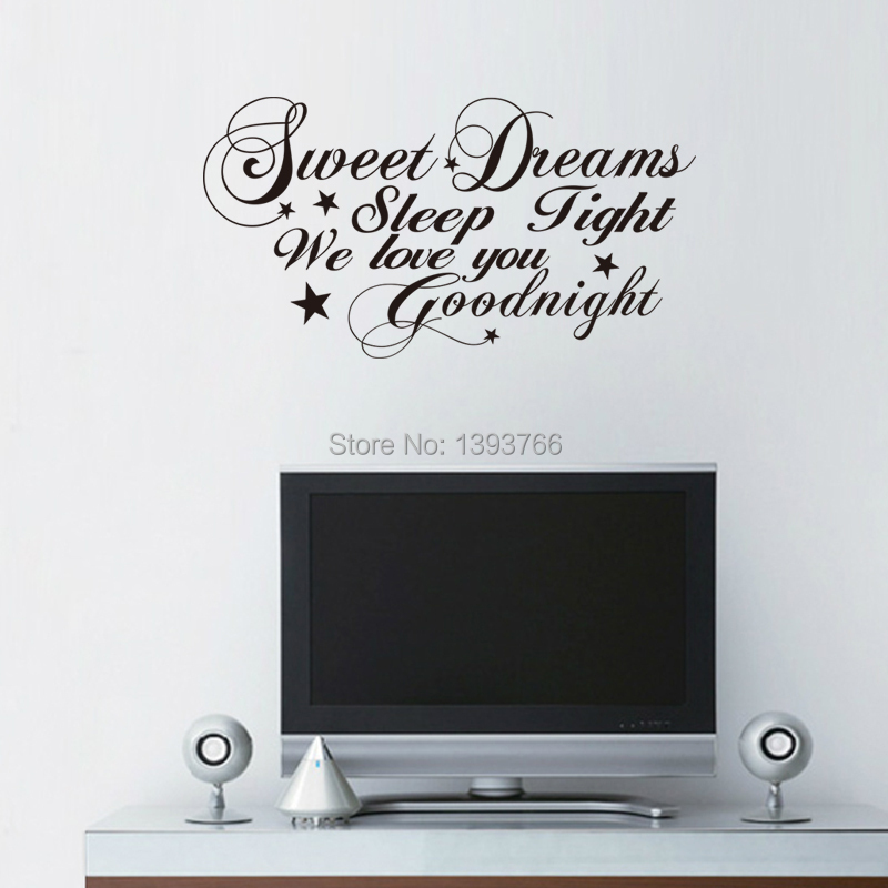 Buy good night sweet dreams romantic for Living room quote stickers