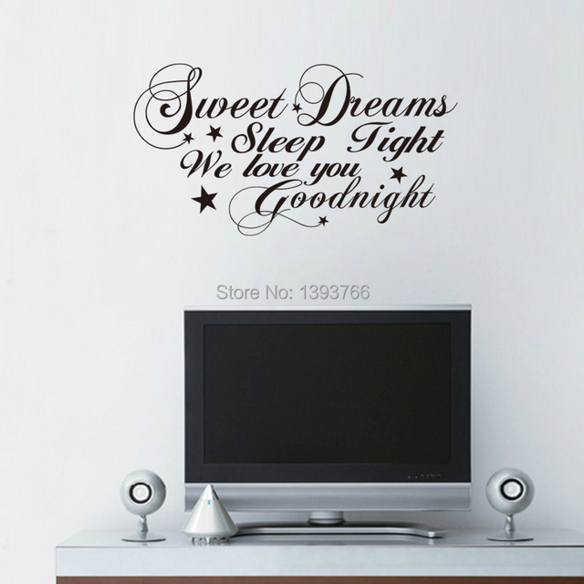 Good Night Sweet Dreams Romantic Bedroom Wall Stickers Living Room Decals  Quote ZYVA 8277