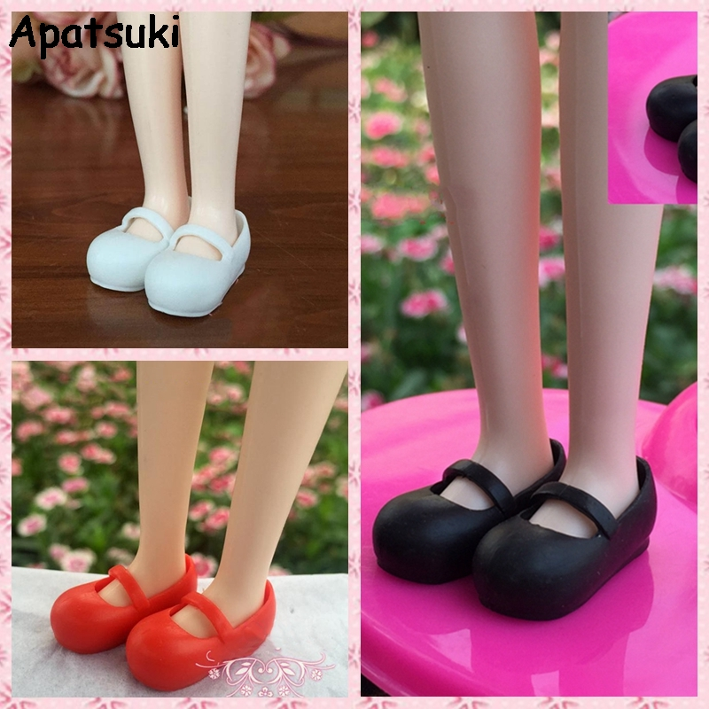 3Pairs/lot Mary Janes Shoes For Blythe Dolls 1:6 Causal Shoes For Licca Doll House Mini Shoes For 1/6 BJD Doll Accessories
