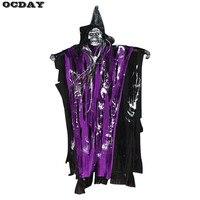 Halloween Decorations Hangning Ghost Horror Props Skeleton Devil Spirits Sound Control Haunted House Halloween Decor