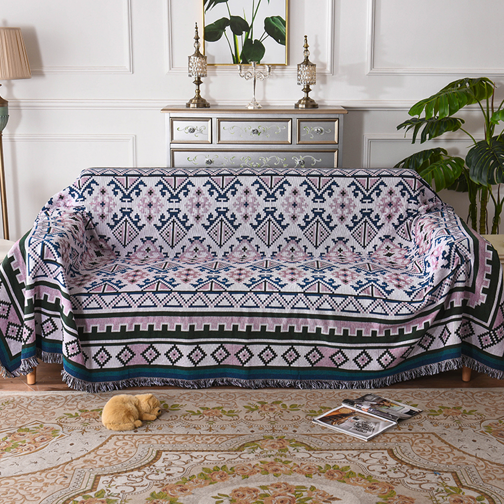 Fabulous Us 35 84 50 Off 2018 Geometric Pattern Woven Sofa Covers Blanket Plaids Cotton Polyester Quilting Sofa Blanket Towel Slipcovers Protect Cover In Machost Co Dining Chair Design Ideas Machostcouk