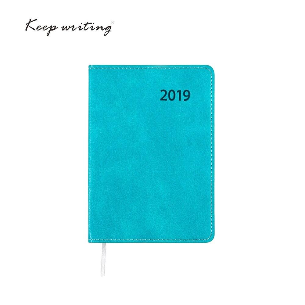 2019 calendario planificador semanal A6 cuaderno diario de 106 hojas 80gsm DE LA ESCUELA papelería pequeño programa diario notas de bolsillo