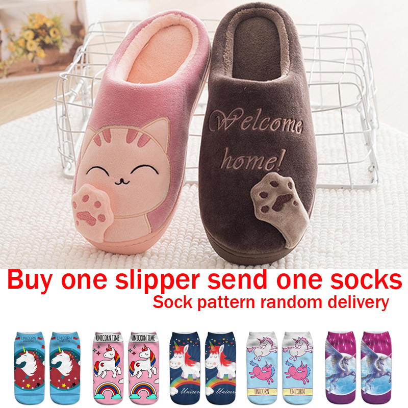 cd41ada2bda Kids Cat Claw Slippers For Girls Boys Flip Flops Children Pussy Home Shoes  Winter Indoor Warm