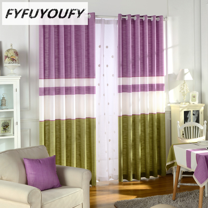 Korean Luxury Elegant Striped Curtain Window Blinds Kitchen For Living Room Flat Windows Curtains Can