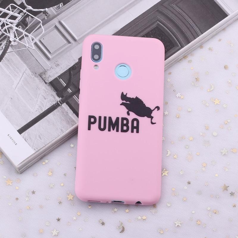 Для huawei Honor mate 10 20 Nova P20 P30 P Smart Hakuna Matata Король Лев карамельный силиконовый чехол для телефона Capa Fundas Coque - Цвет: Pink