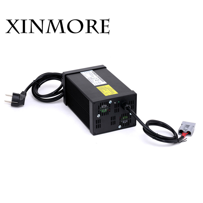 XINMORE 43.5V 18A 17A 16A Lead Acid Batt Charger For 36V E-bike Li-Ion Battery Pack AC-D ...
