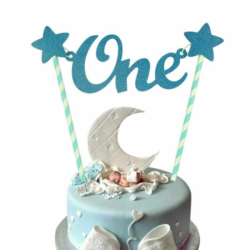 Sensational Baby 1St Birthday Cake Topper One Cake Toppers Diy Colorful Baby Funny Birthday Cards Online Inifofree Goldxyz