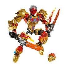 купить XSZ 611-2 Biochemical Warrior BionicleMask of Light Bionicle Onua Earth Building Block Compatible with 71309 Toys по цене 580.78 рублей