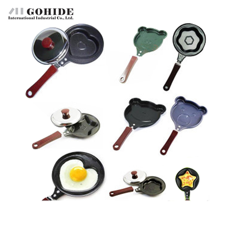 JUHD Breakfast Omelette Pan Device Pancake Egg Fryer Skillet Mini Fry Frying Pan(No Lids) Cookware Non-Stick 10-Design Style