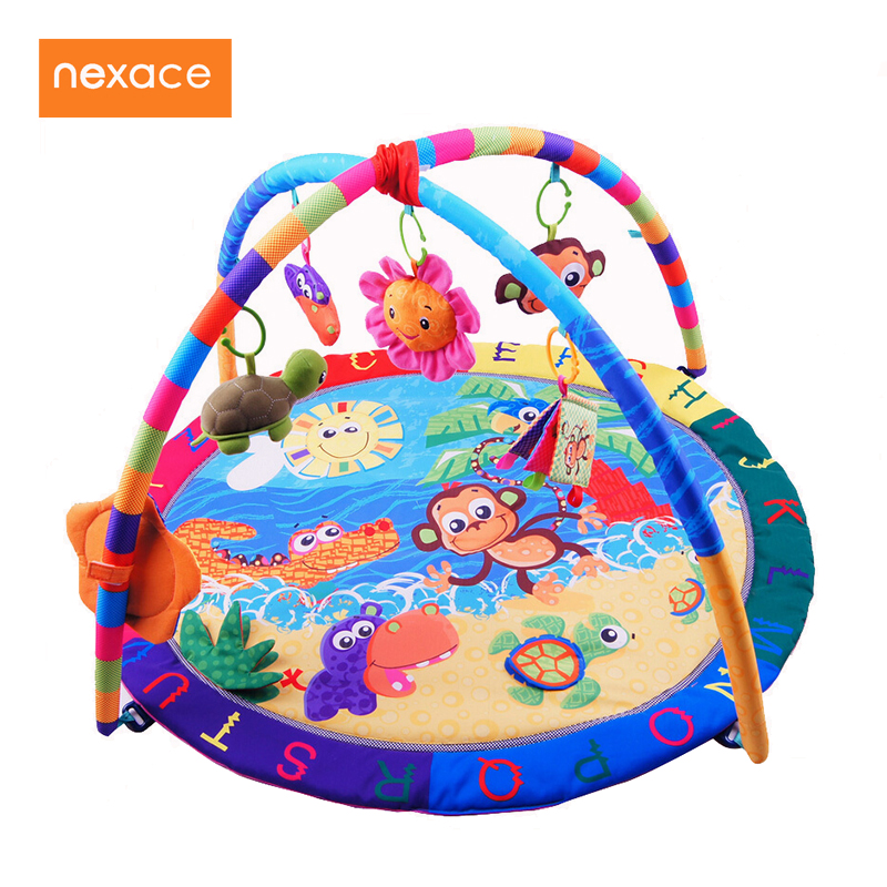 Baby Activity Play Mat Baby Gym Educational Fitness Frame Multi-bracket Baby Toys Game Mats baby toy play mats twist and fold activity gym play gym play mats colorful gymini playmat with 5 toys zl848