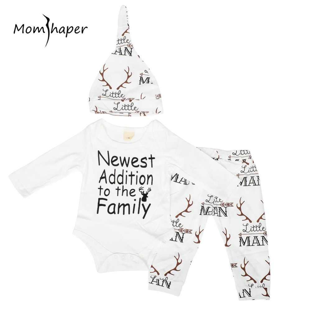 Baby meisje kleding 3pcs sets pasgeboren baby boy kleding katoen Rompertjes broek babies Hat pasgeboren kerst baby Halloween kostuum