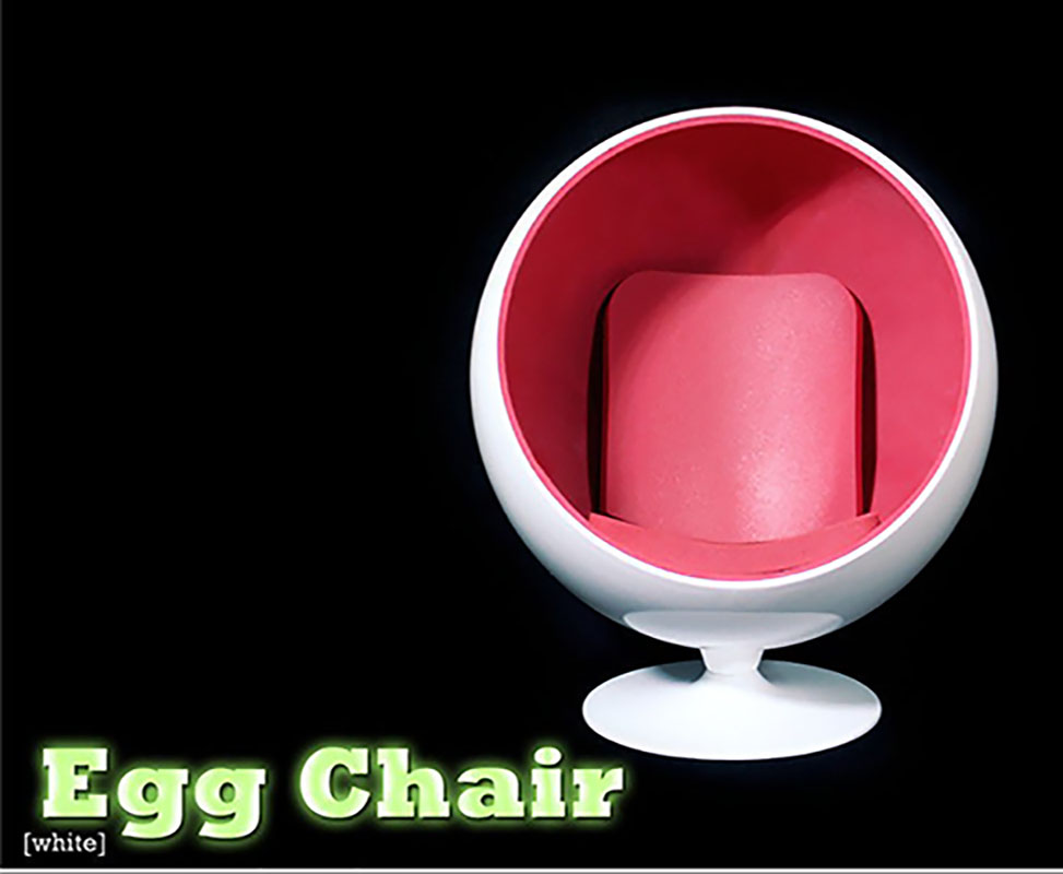 ФОТО 1/6 Chair Furniture Model Toys Special White Space Egg Chair For 12