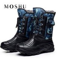 Designer Men Winter Boots Warm Waterproof Platform Fur Inside Snow Outdoor Shoes Chaussure Homme