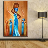 Modern Abstract Canvas Art African Women Canvas Pictures Wall Art Painting For Living Room and Bedroom Decoration