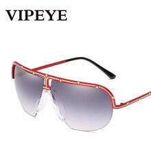 VIPEYE 2018 Nouveau Demi-Métal Cadre Rétro lunettes de Soleil Femmes Hommes  L europe Et Les États-unis Grand Cadre Personnalité . 6560ae4b7524