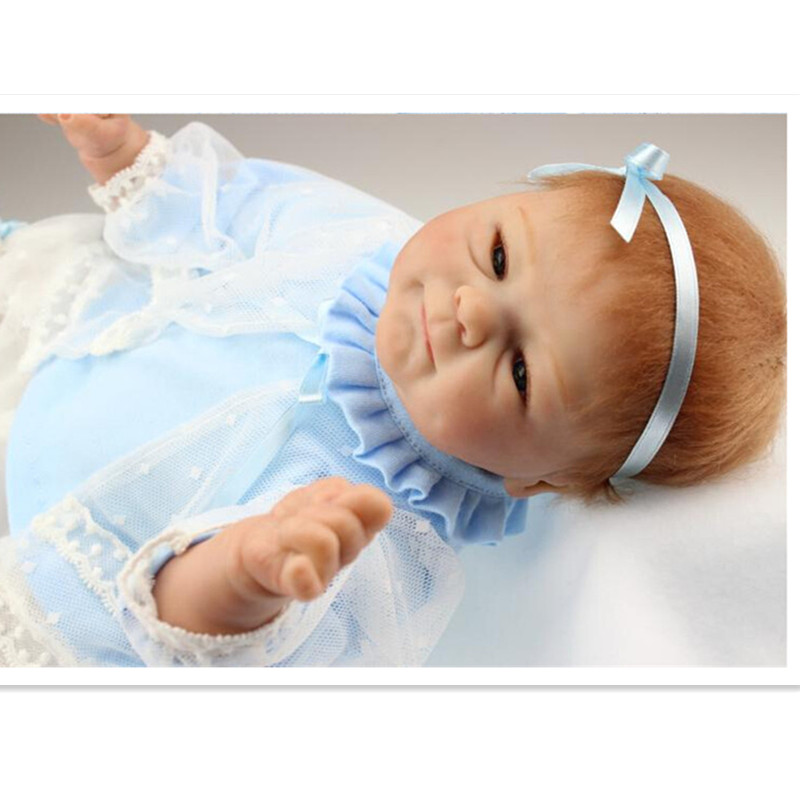 NPK Collection Reborn poupée Silicone doux poupées jouet 40 cm/16 pouces, réaliste poupée enfant cadeau d'anniversaire réaliste bébé nouveau Reborn jouet