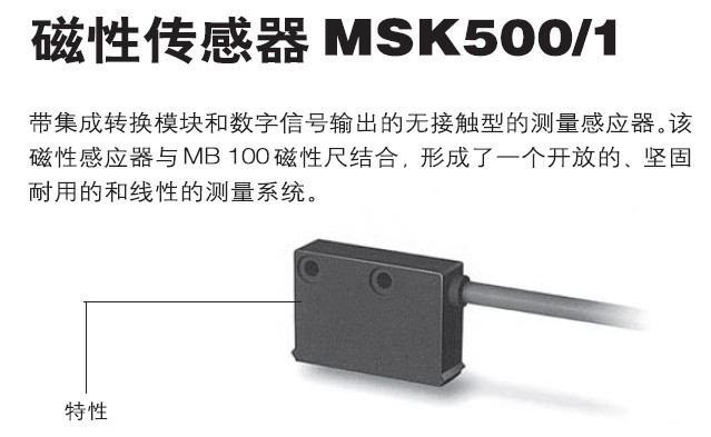 Linear Displacement Sensor MSK500/1 Magnetic Grating Ruler MB500 Magnetic Ruler Position Feedback Encoder