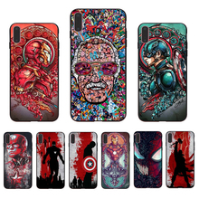 IMIDO Marvel Avengers League Endgame Retro painting Soft phone case for iphone X XS XR XSmax 7 8 6 5 6s/6/7/8plus 5/6S SE shell imido oriental dragon pattern design soft black silicone phone case for iphone x xs xr xsmax 7 8 6 5 6s 6 7 8plus 5 6s tpu shell