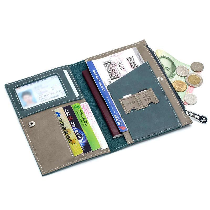 Sac de permis de conduire en cuir fendu sur la couverture pour le Document de conduite de voiture porte-carte passeport portefeuille sac étui de certificat