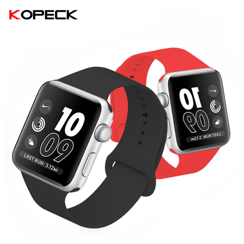 Kopeck Sports Soft Silicone Strap for Apple Watch Band 42mm/38 Bracelet Strap Wrist Bands for iWatch Series 1 2 3 Sport&Edition