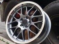 18 inch 5x114.3 et40 CB 73.1 Gunmetal Machined Lip Wheel Rims W418