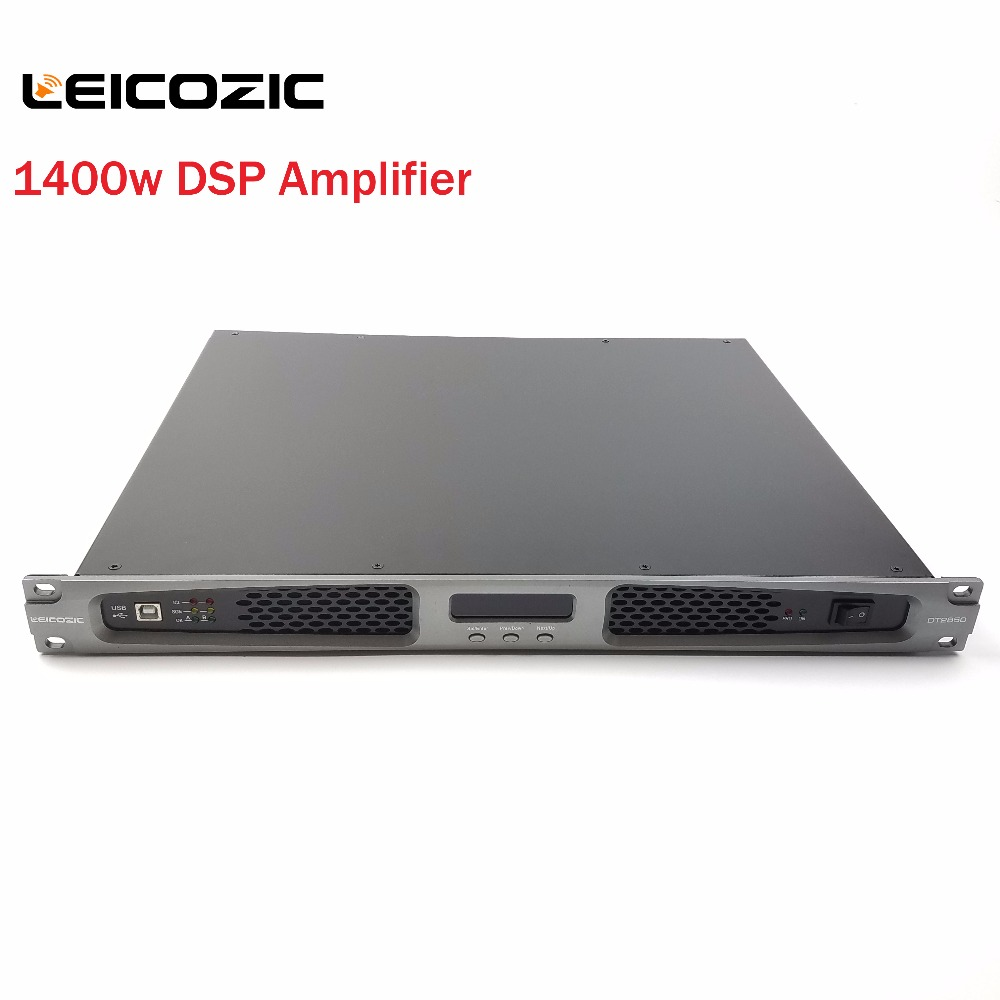 Leicozic Audio amplifier 1400w x2 DSP control 1u pro audio equipment high power digital amplificador de som audio amp switching
