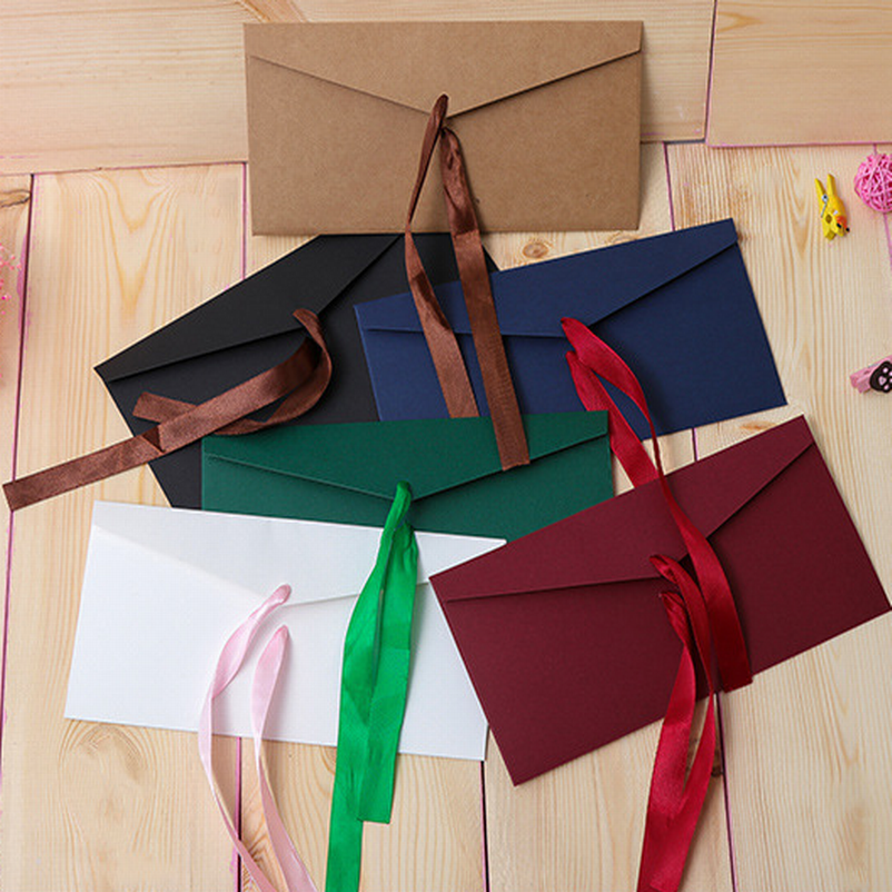 DHL Free Shipping,500 PCS Bowknot Envelope For VIP Cards, Message Cards Packing