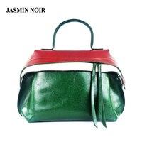 JASMIN NOIR Women Leather Handbag 2016 Winter Tassel Crossbody Bag Over Shoulder Brand Designer Big Tote