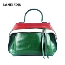 JASMIN NOIR Women PU Leather Handbag 2017 Tassel Crossbody Bag Over Shoulder Brand Designer Messenger Bags Big Tote Bag